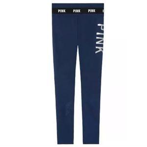 VMs PINK Ultimate Leggings Black Mesh Ankles M